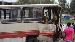 برخورد دو سرویس کارگران در ساوه 11 مصدوم برجای گذاشت