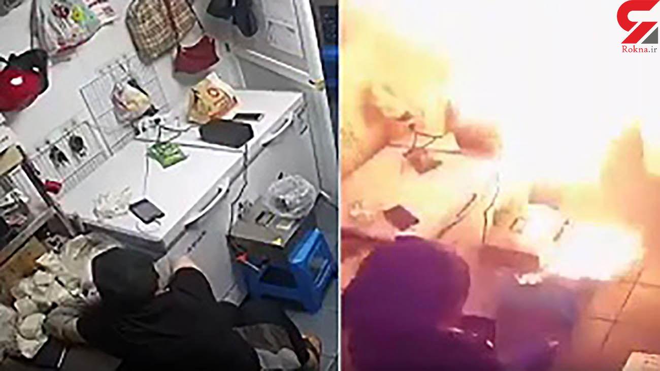 انفجار وحشتناک در ساختمان مسکونی / آتش گرفتن ناگهانی باتری هنگام شارژ + فیلم