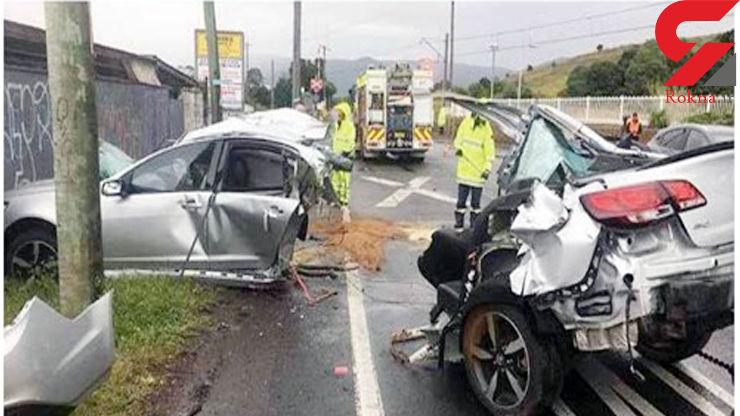 راننده خوش شانس جان سالم به در برد + عکس