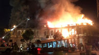 آخرین وضعیت ساختمان سوخته میدان حسن آباد پس از 16 ماه