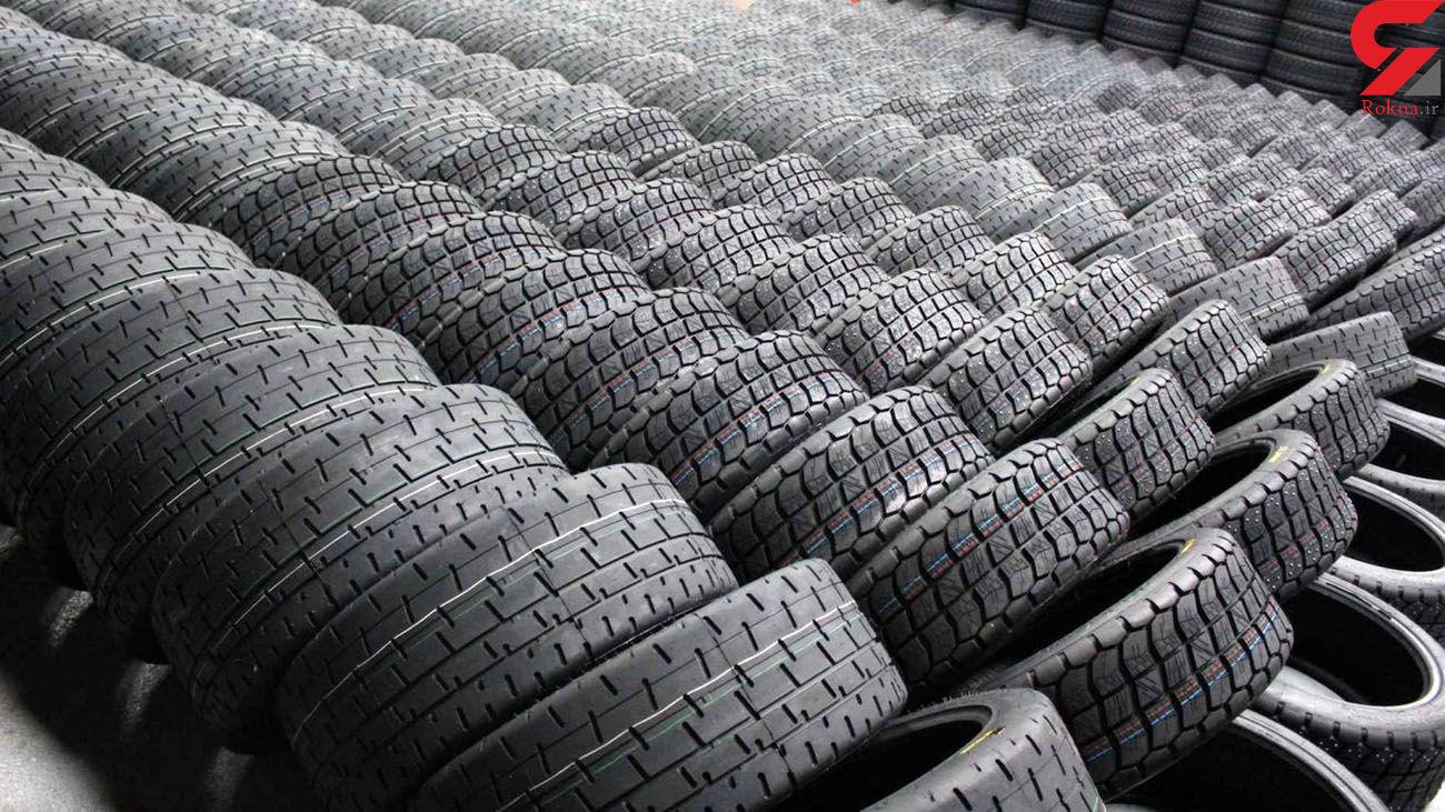 کشف 429 حلقه لاستیک خودروی احتکار شده در فومن