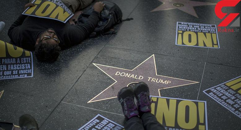 حذف ستاره جنجالی ترامپ در خیابان مشاهیر هالیوود