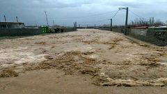 سیلاب محور امام رضا(ع) را مسدود کرد