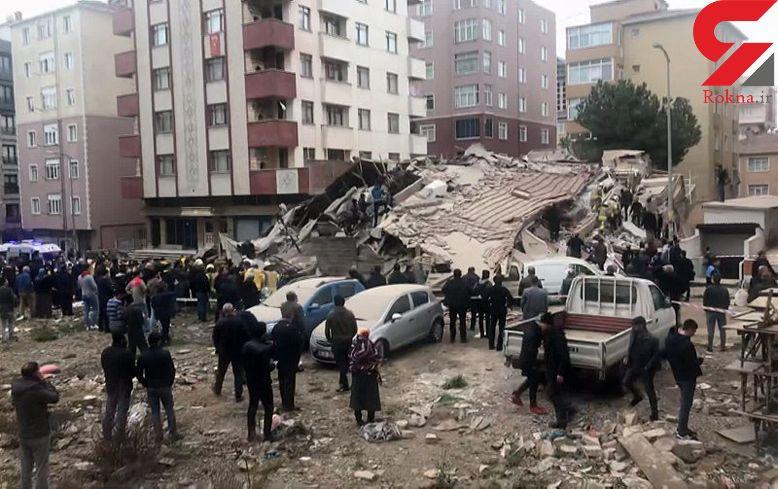 ریزش مرگبار ساختمان 6 طبقه / تعداد زیادی زیر آوار گرفتارند+تصاویر