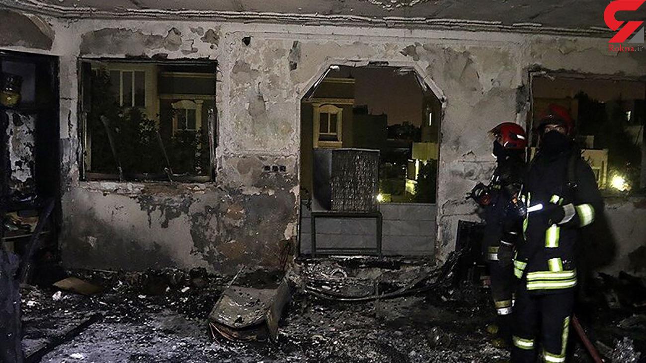 جوان کرمانشاهی در آتش سوخت