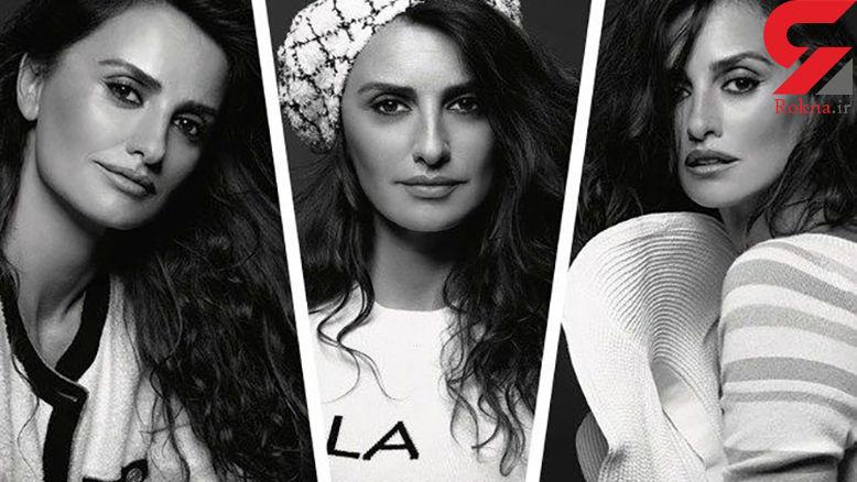 همکاری خانم بازیگر با شنل / مدلینگ پنهلوپه کروز را ببینید+ تصاویر