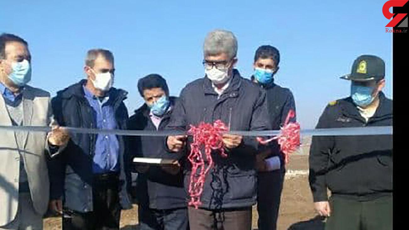 افتتاح طرح کشاورزی در شهرستان هشترود