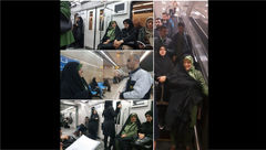 معصومه ابتکار با مترو سر کار رفت +عکس