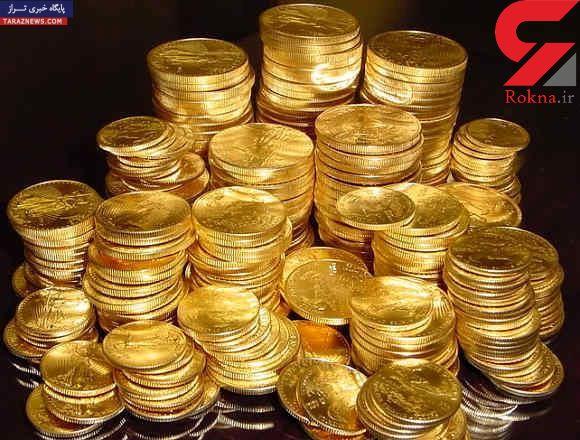 کاهش قیمت سکه طلا