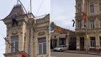 لحظه خودکشی وحشتناک مرد میانسال از طبقه سوم یک ساختمان + فیلم