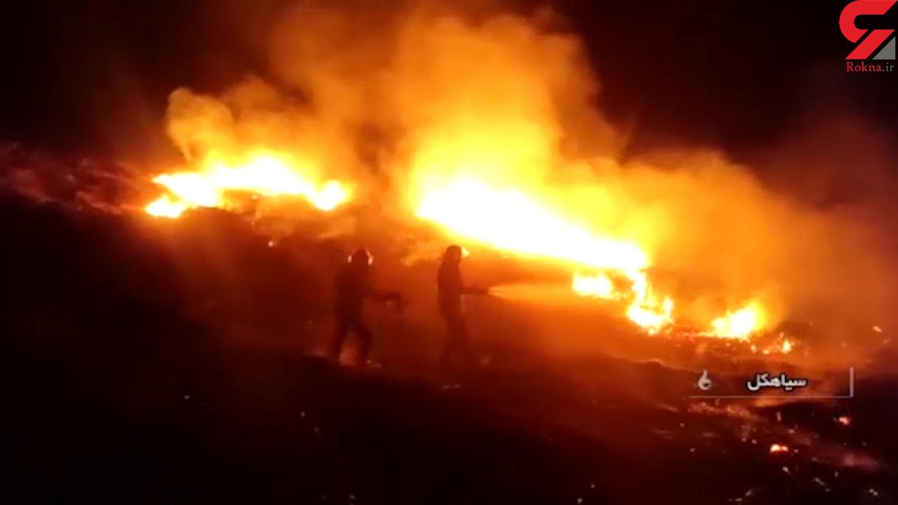 فیلم آتش سوزی در باد گرم گیلان