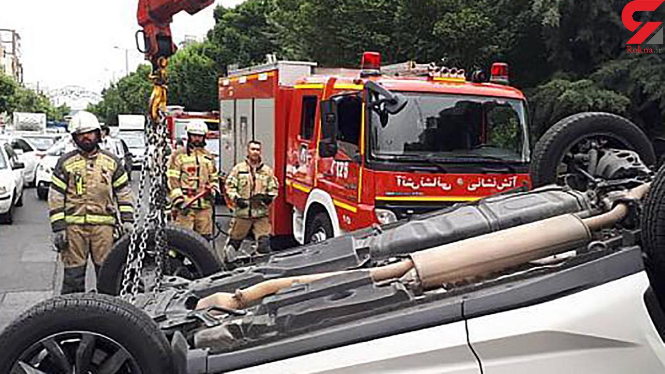 عکس های لکسوس چپ شده در شهرک غرب تهران