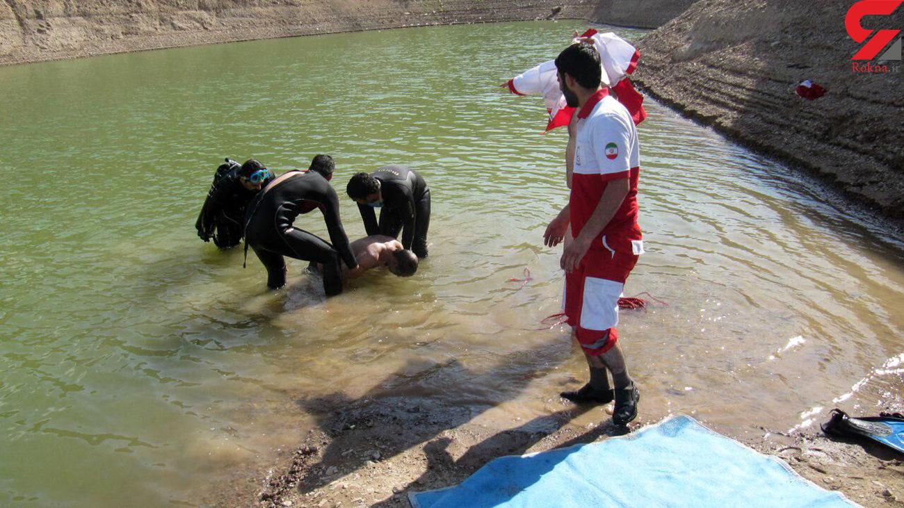غرق شدن مرد میانسال در رودخانه کرج + عکس