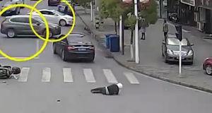 رفتار عجیب 3 راننده پس از  تصادف شدید + فیلم