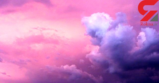 آسمان  طوفانی به رنگ ارغوان! + عکس