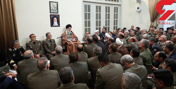 فرماندهان ارتش با فرمانده کل قوا دیدار کردند
