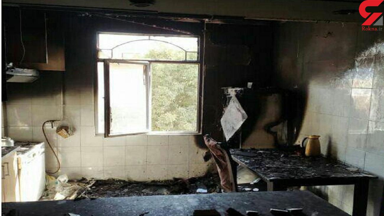دو حادثه آتش سوزی منزل مسکونی در قزوین