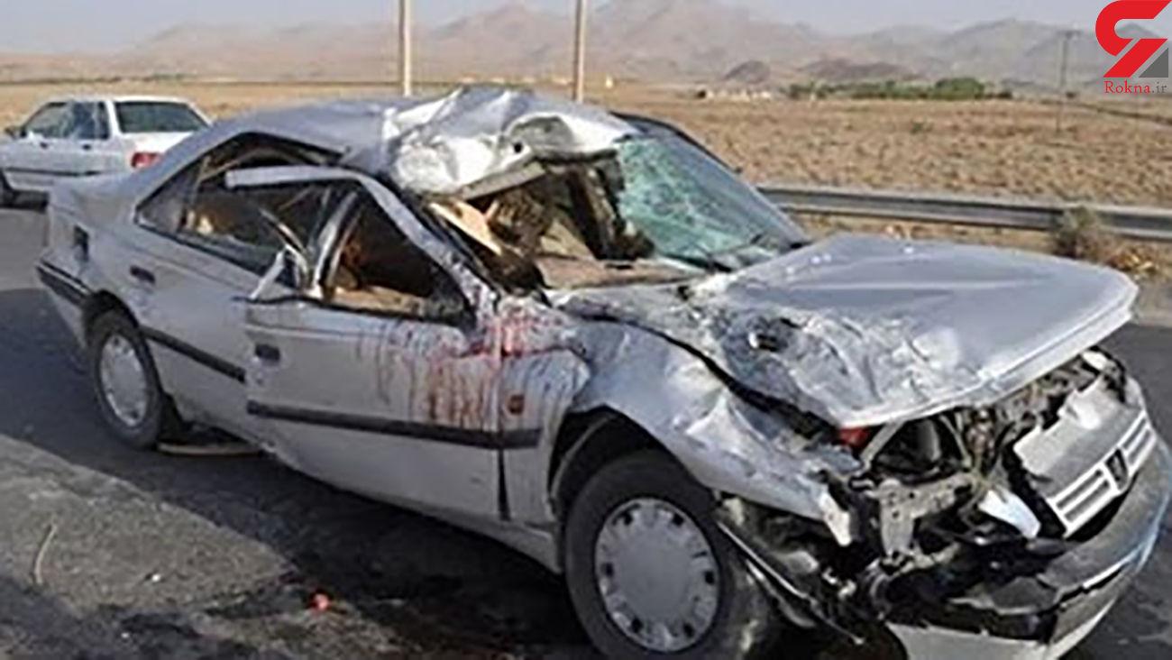 یک کشته بر اثر واژگونی پژو در 45 کیلومتری پارسآباد