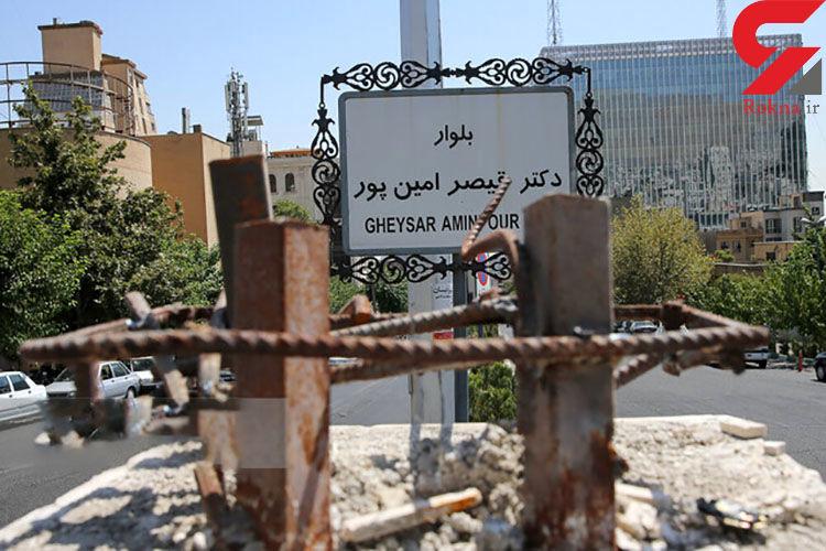 بازداشت دزدان مجسمه مشهور تهران + عکس