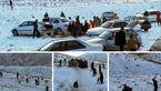 نجات سرنشینان بیش از 200 خودرو گرفتار شده در برف