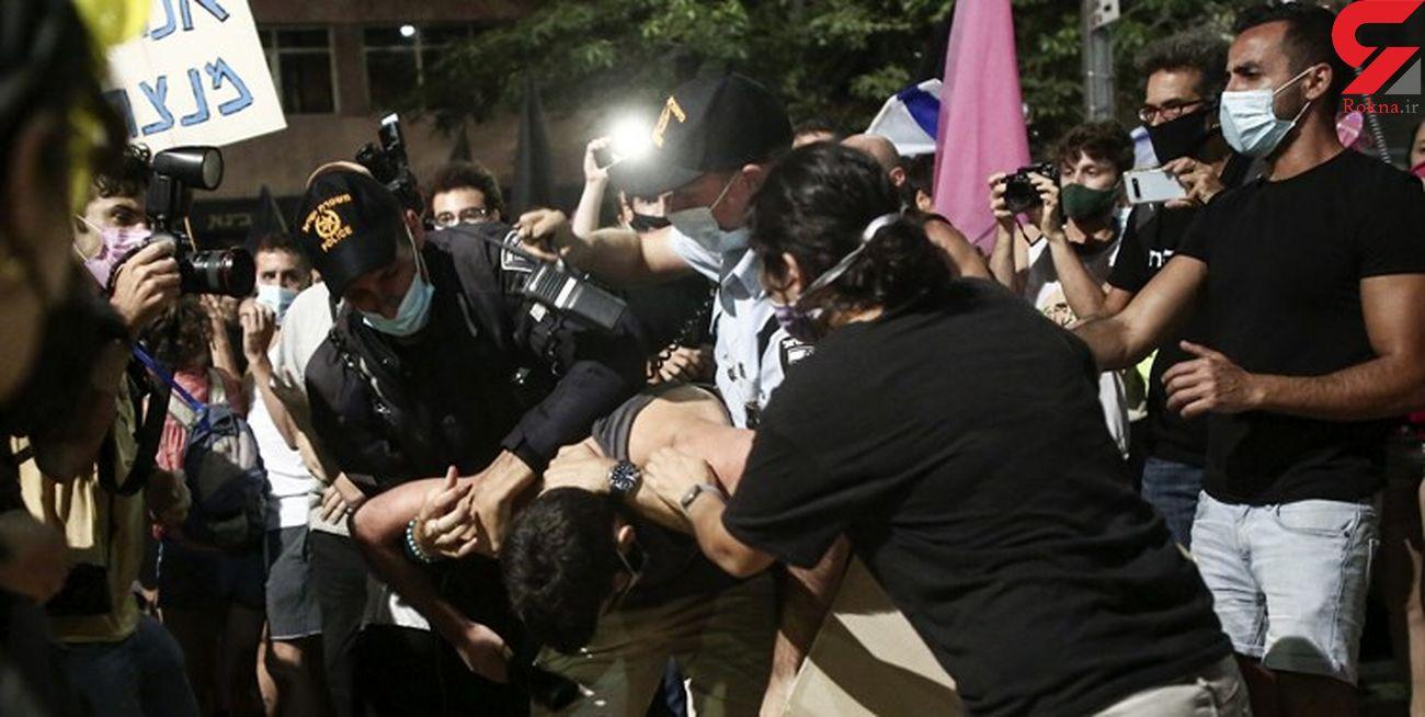 بازداشت 38 نفر در اعتراضات علیه نتانیاهو/درگیری پلیس با معترضان