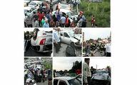 تصادف مرگبار در جاده پیربازار رشت + عکس