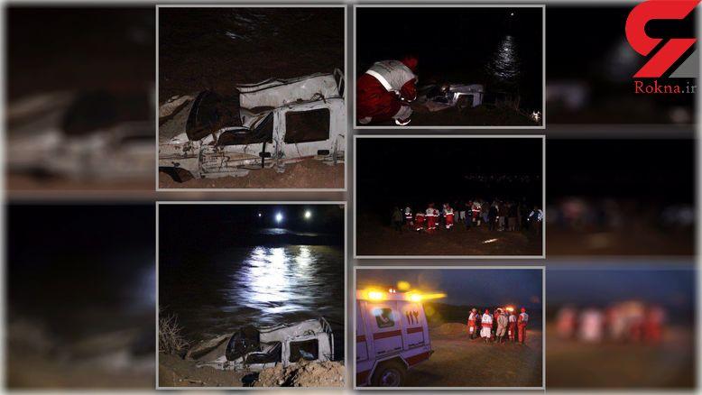 واژگونی تویوتا در رودخانه گزیک خراسان جنوبی