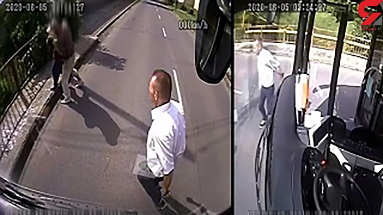 فیلم حمله یک دزد به پیرزن / راننده اتوبوس فرشته نجات شد + جزئیات / مجارستان