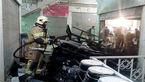 مهار آتش سرکش فروشگاه پوشاک در بازار تهران+عکس