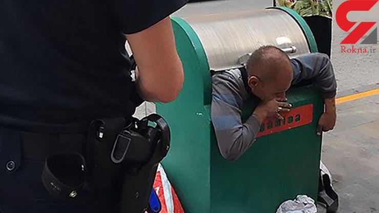 عجیبترین عملیات نجات از سطل زباله +تصاویر