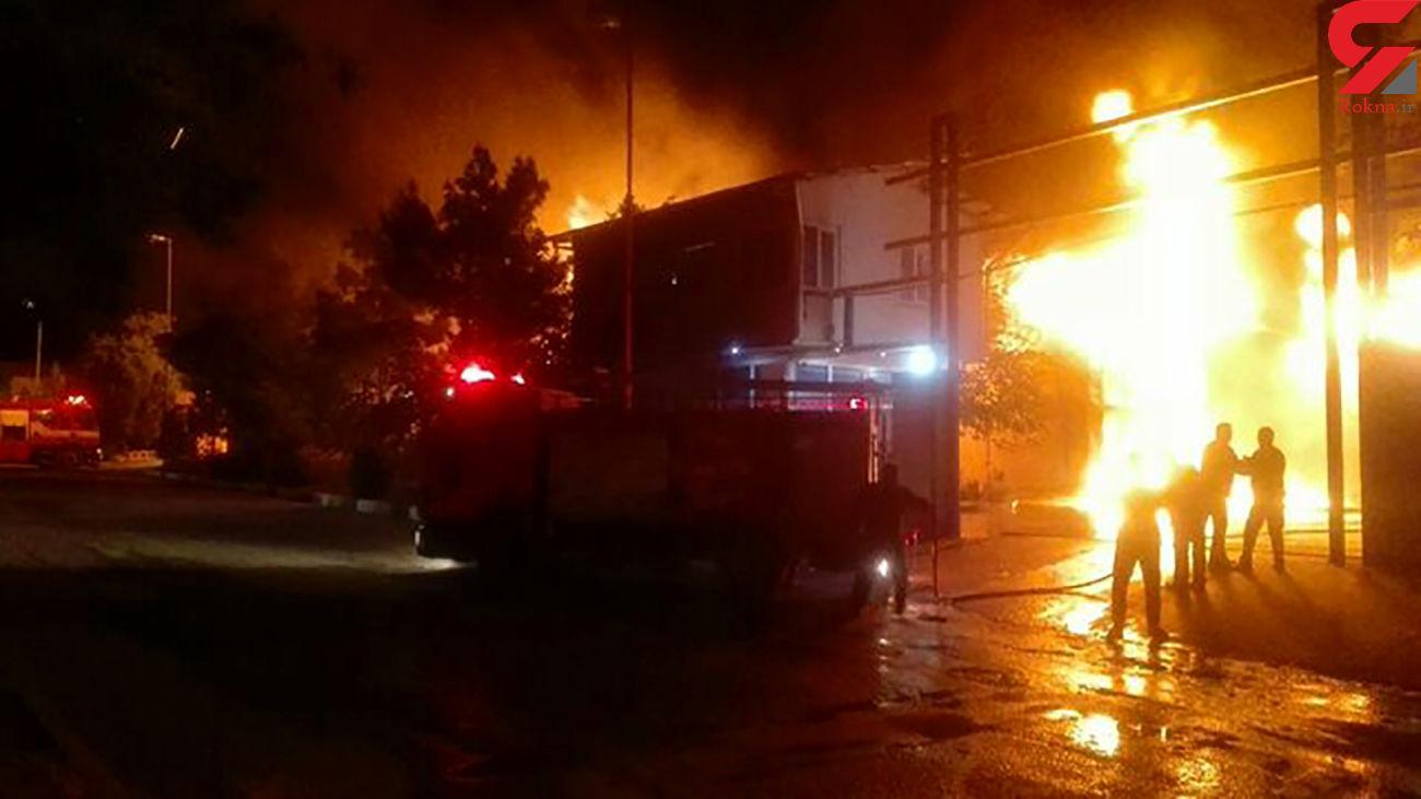 فوری / آتش سوزی بزرگ در شهر پرندک زرندیه + عکس