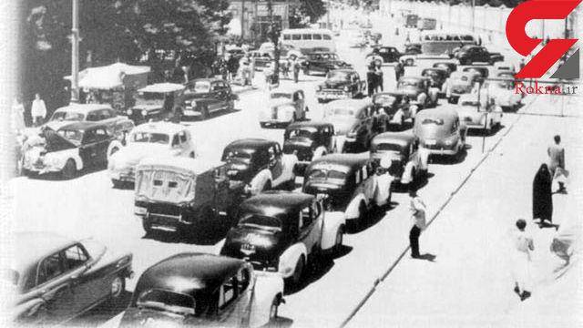 عکس / چهارراه استانبول 70 سال قبل هم ترافیک بوده است !