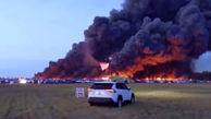 آتش سوزی هولناک در فرودگاه بین المللی فلوریدا / 3500 خودرو در آتش سوخت +فیلم و عکس