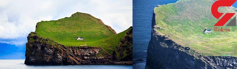 جزیره ای با یک خانه کوچک + عکس