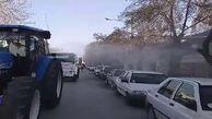 اقدامات ضد کرونایی در تبریز + فیلم