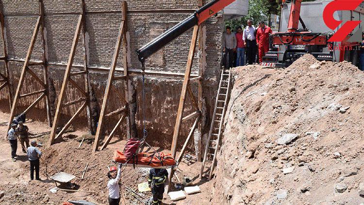 ریزش آوار بر روی کارگر ساختمانی