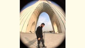 «دیوار آسمان» بر دیواره برج آزادی