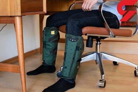 رفع خستگی کارمندان با ماساژور پوشیدنی + عکس