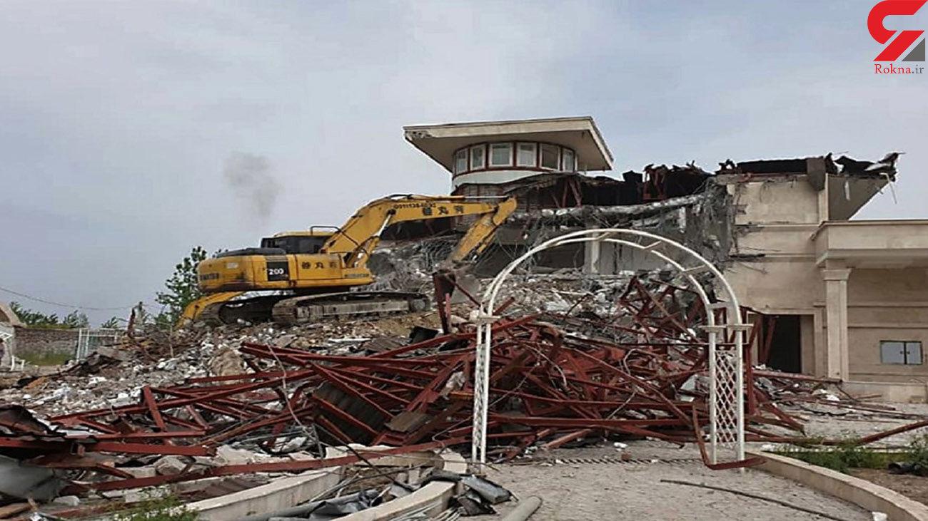 تخریب 10 ویلای غیرمجاز شهرستان سامان