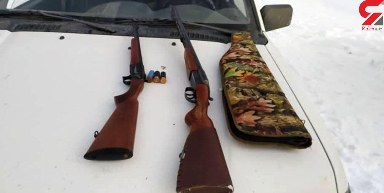 دستگیری 2  شکارچی در زیستگاه کل و بز منطقه ازناو خلخال