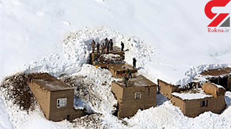 سقوط بهمن روی روستا در ارومیه
