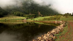 دریاچه شگفت انگیز ویستان، همنشینی خورشید و مه در رودبار + عکس