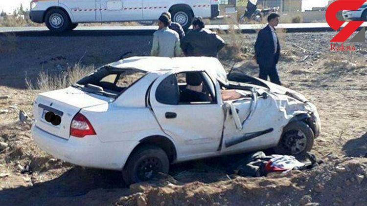 واژگونی خودرو در سبزوار جان سرنشین را گرفت