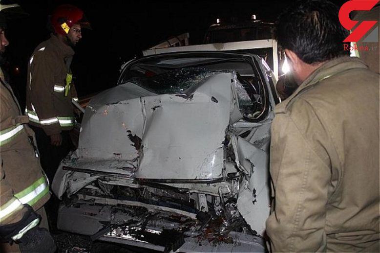 7 کشته و زخمی بر اثر تصادف کامیون با پراید+ عکس