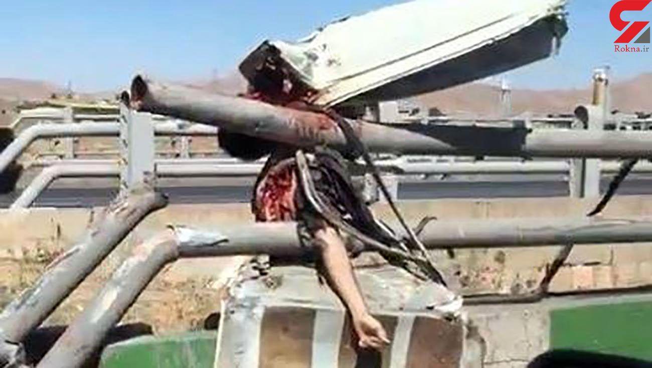 جسد تکه تکه شده 2 مرد در جاده شیراز + عکس 16 +