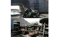 تصویر وحشتناک از مرگ راننده تانکر آب پاش در گل گهر