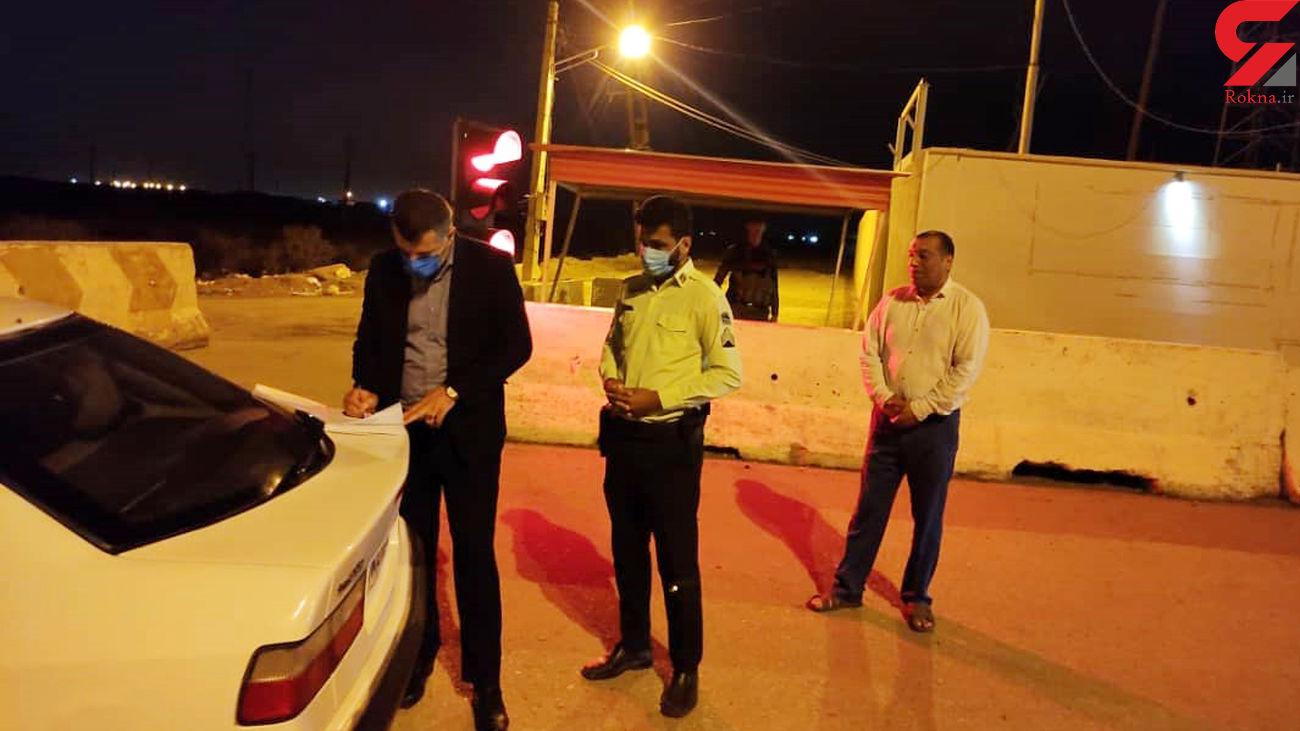 بازدید سرزده رییس پلیس آبادان از گیت های ورودی و خروجی شهر