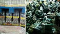 پنهان کردن 30 تن نوشیدنی فاسد در نیشابور + عکس