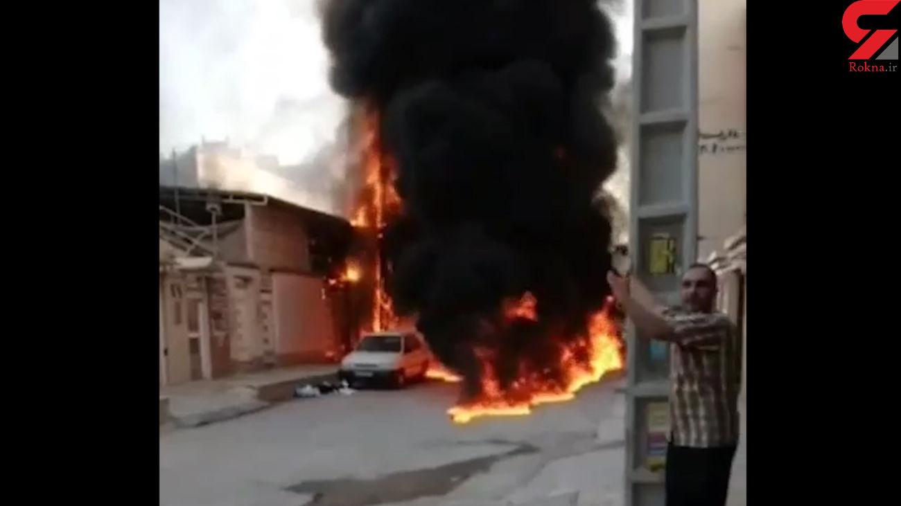 آتش سوزی وحشتناک در اهواز + فیلم