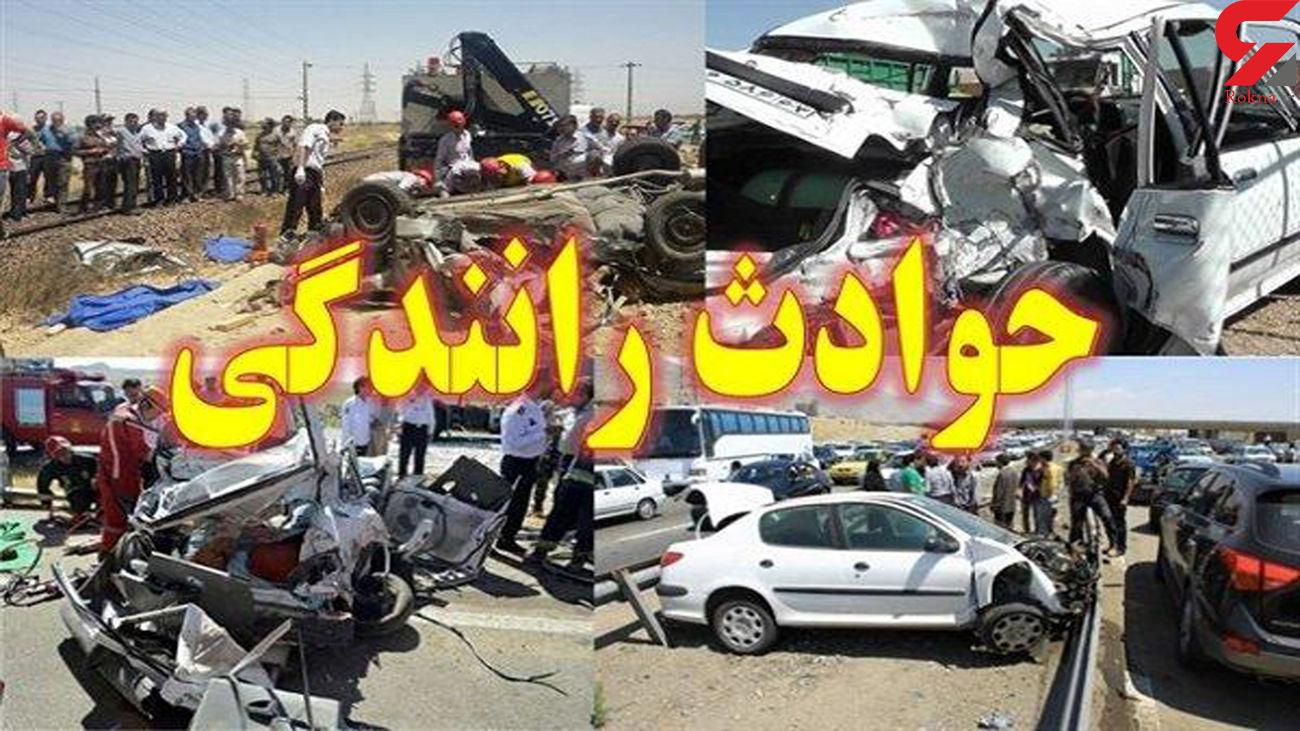 تصادف مرگبار در جاده شوشتر / یک کشته و 3 زخمی